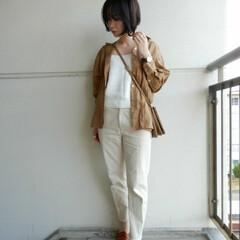 コーディネート/code/fashion/ファッション まだまだリネンシャツが いまの時期は大活…
