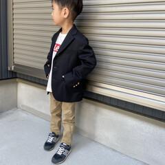 息子コーデ/KIDSfashion/kidscode/ファッション 息子さんの春らしいジャケットで コーディ…