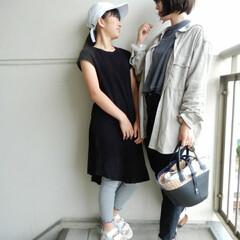 リンクコーデ/outfit/コーディネート/code/fashion/ファッション 娘さんとのリンクコーデ❤️ もうほぼ同じ…