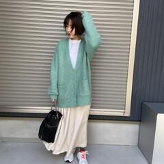 ママコーデ/mama/スニーカーコーデ/スニーカー/ファッション/おすすめアイテム スニーカーにスカート合わせがこの春はトレ…(1枚目)