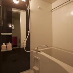 お風呂/浴室乾燥機 浴室は乾燥機が標準装備。雨の日が続いても…