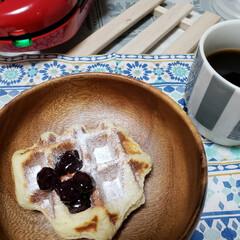 ワッフル/朝食/Vitantonio/わたしのごはん