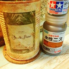 缶/ダイソー トマト缶リメイク
