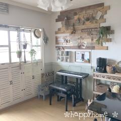 ディアウォール/窓枠DIY/板壁DIY/DIY/インテリア わが家のリビングです(*´꒳`*)