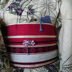 浴衣/和服/和装/夏コーデ/ファッション/ハンドメイド/... 今年、衝動買いした浴衣と帯。30年ぶりく…