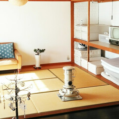 アラジンストーブ/押入れ改造/押入れ収納/和室/シンプルインテリア/インテリア/... 我が家の和室♪ 新年にむけて大掃除。  …
