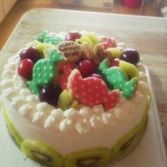 バースデーケーキ/キッチン/ハンドメイド