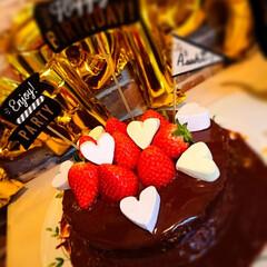 誕生日ケーキ/バースデーパーティー/バースデーケーキ/お誕生日/ペット/スイーツ 長男16歳のお祝い(^3^)/ 去年まで…