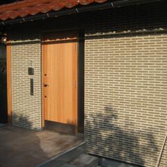 玄関/リノベーション/リフォーム/風景のある家/タイル/隠岐の島