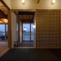 風景のある家/和室/玄関/和風/岡山設計事務所