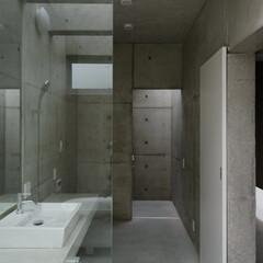 岡山設計事務所/コンクリート住宅/注文住宅/浴室/洗面/風景のある家