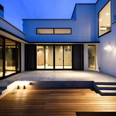 風景のある家/中庭/コートハウス