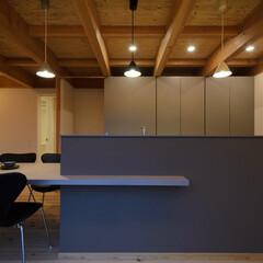 風景のある家/キッチン/収納/岡山設計事務所