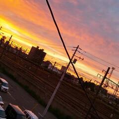 夏の夕暮れ 空が好き✾ 幻想的な空は綺麗◌ 。˚✩