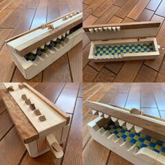 筆箱/箱作り/DIY/ハンドメイド ワニの筆箱です。 (今回は初めて、狙って…