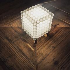ライト/照明器具/照明/DIY/雑貨/100均/... 昔購入したニトリのライトに磨りガラスの球…