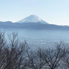 富士山/あけおめ/冬/年末年始/旅行/風景 元旦恒例の裏山登山  今年も良い年であり…