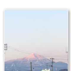今日は🍛🥄/お買い物帰り/磐梯山 夕陽の色で染ってます!
