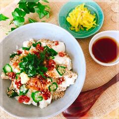 昼ごはん/丼/フード/おうちごはん/節約 暑〜い日の さっぱり豆腐どん  食欲の …