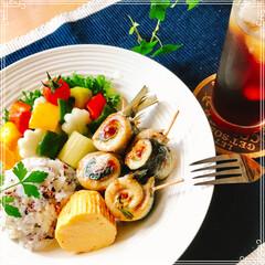 お家ご飯/ワンプレート/ランチ 昼ごはん 鰯ロール(大葉 甘味噌)