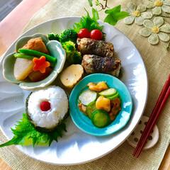 お家ご飯/朝ご飯/ワンプレート/フード 朝ご飯 おにぎり 鰯 ( 大葉  甘味噌…
