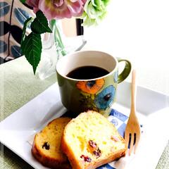 手作り/デザート/フード 食後の コーヒーに 昨日作った パウンド…