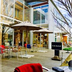 コーヒータイム/カフェ/グルメ/スイーツ/おでかけ/建築 ショッピングの 帰り 近くの オープンカ…