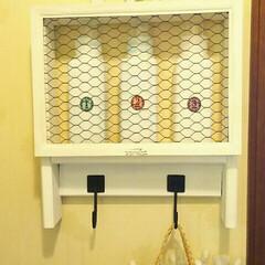 スリムボトル/洗濯/収納/雑貨/暮らし 洗濯機近くの壁掛けシェルフ✨ 洗剤、柔軟…