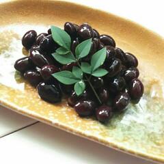 黒豆/おせち料理/おせち/お正月料理/お正月/あけおめ 黒豆だけは毎年大鍋でたくさん作り、お裾分…