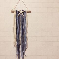 カリフォルニア風/スターフィッシュ/100均/セリア/ダイソー/生活雑貨/... kaniさんの作品を参考に作りました(⍢…