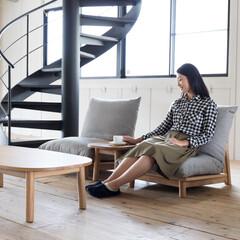 ローソファ/ソファ/座椅子/インテリア/ナチュラル/シンプル キルトソファは日本の床座文化に馴染むロー…
