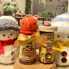 キャンディポット/ハンドメイド 雪だるま⛄️さんにミニチュアキャンディポ…