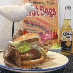 ハンバーガー/ランチ/父の日/おうちごはん/フード/グルメ お家でランチ ハンバーガー🍔