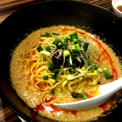 中華/担々麺/フード/グルメ 白ごま担々麺 🍜 濃厚で美味しかったです💕