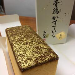 お土産/スイーツ/フード/グルメ 金沢のお土産💕  烏骨鶏のカステラ ふわ…