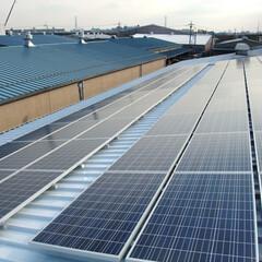 太陽光発電/屋根/省エネ/ナチュラル/自然/埼玉/... 工場の屋根にご設置いただいた太陽光発電(1枚目)