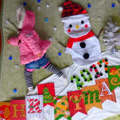 クリスマスお昼寝アート クリスマスのお昼寝アート〰✨ペットボトル…