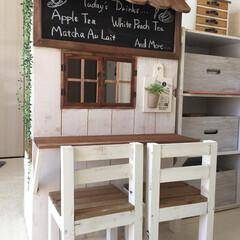 カラーボックス/手作り/おままごとキッチン/DIY/雑貨/100均/... 対面式のおままごとキッチン!  我が家は…