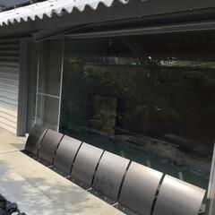 犬矢来/庭/日除け/庭園/病院/診療所/... 稲沢の東浦眼科医院の中待合の前に「犬矢来…