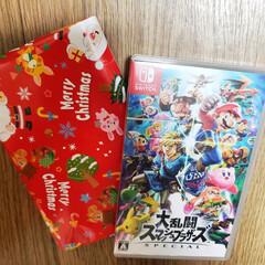 スマブラ/任天堂Switch/一足早いサンタさん/クリスマスプレゼント  一人目のサンタ🎅さんが 一足早く有翔の…
