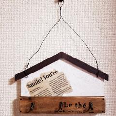 プレゼント/壁掛けフック/ハンドメイド雑貨  😃😃😃ひらめいて  久々、こんなの作っ…
