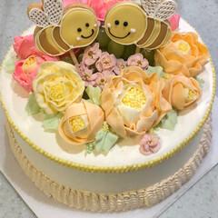 バースデーケーキ/スイーツ/キッチン/フード/ハンドメイド バースデーケーキ🎂  ブラーケーキ