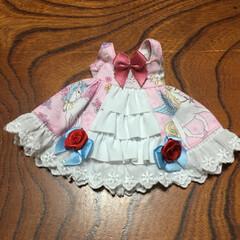 ブライス/お人形/ロリィタファッション/かわいい/リボン/手作り/... ブライスちゃんに作った甘ロリジャンパース…