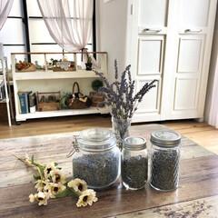 収納棚DIY/セルフリノベーション/和室から洋室/ポプリ作り/ラベンダー/DIY/... お家のラベンダーを収穫してポプリ作りをし…