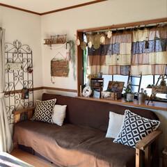 ソファー/カラーボックス/カラボ/DIY/インテリア/家具/... お気に入りのソファーです♡  カラボで作…