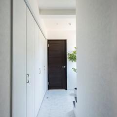 玄関/ホール/大理石/フロア/ビルトイン車庫/電動シャッター Raffie山の手モデル