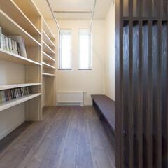 書庫/書斎/図書室/本棚/造作 読書に集中できる家