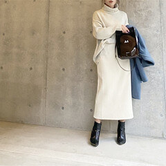 pvcバッグ/PVC/ママコーデ/ママファッション/大人カジュアル/ファッション/... コーデ♡   冬コーデ×PVCバッグ  …