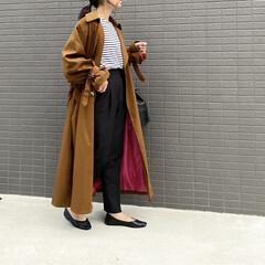 アウター/トレンチコート/ママコーデ/ZARA/ザラジョ/ファッション/... コーデ   今年はブラウンのトレンチコー…