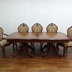 輸入家具/ダイニング/ダイニングテーブル/ダイニングセット/大きいテーブル/ロングサイズ/... 10人でも座れる2m20cm~2m80c…